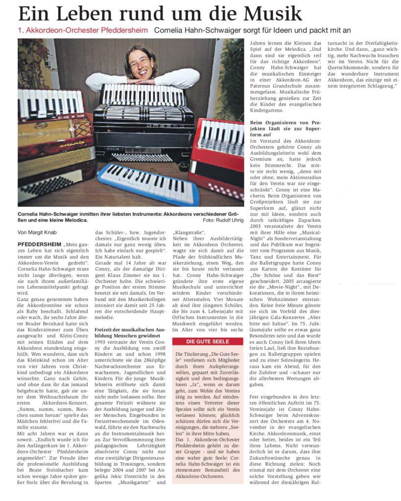 Bericht erschienen am 31.10.2012 im Wormser Wochenblatt